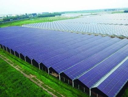 光伏太阳能温室俯瞰图